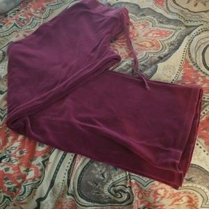 Juicy Couture purple velour large sweat pants